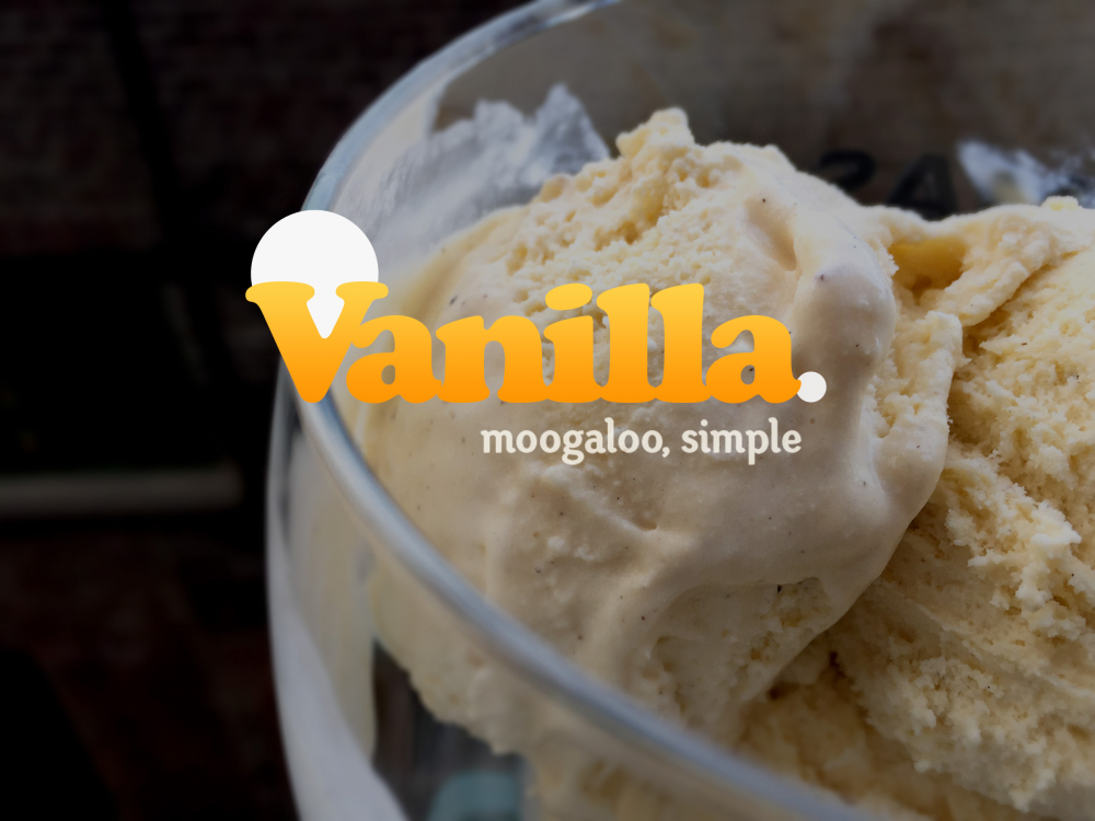Vanilla - As in proper Vanilla ice cream with the little black seeds in.